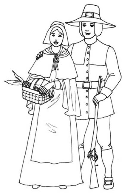 coloring pages for pilgrims - photo#15
