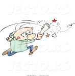 vector-of-a-stressed-cartoon-man-chasing-an-annoying-house-fly-by-gnurf-68
