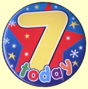 7th Birthday Badge Star
