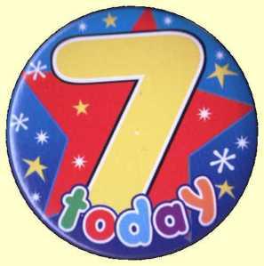 7th Birthday Badge Star
