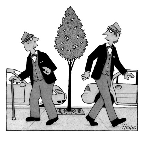 william-haefeli-an-old-man-and-a-young-man-dressed-identically-do-a-double-take-as-they-ar-new-yorker-cartoon
