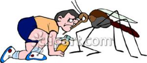 0060-0806-2413-5903_Man_Fighting_a_Mosquito_clipart_image
