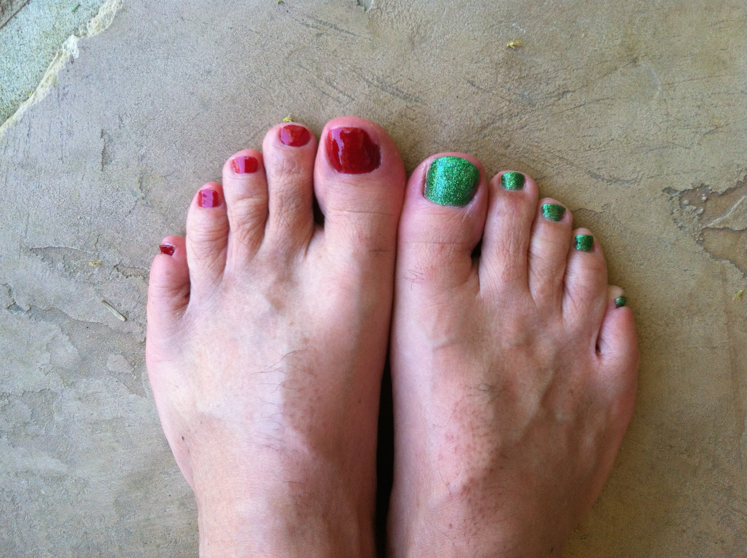 Red Polish On Toenails Papillon Day Spa