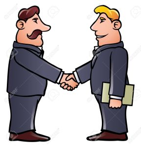 9442167-Business-men-shaking-hands-Stock-Vector-people