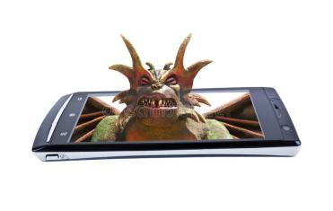 satan-display-smartphone-collage-sculpture-russia-july-horned-demon-cellphone-58384649